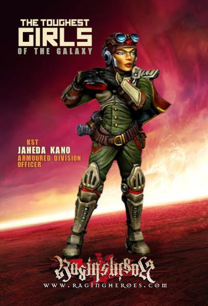 Raging Heroes: (Kurganova Shock Troops) Jaheda Kano, Armoured Division Officer