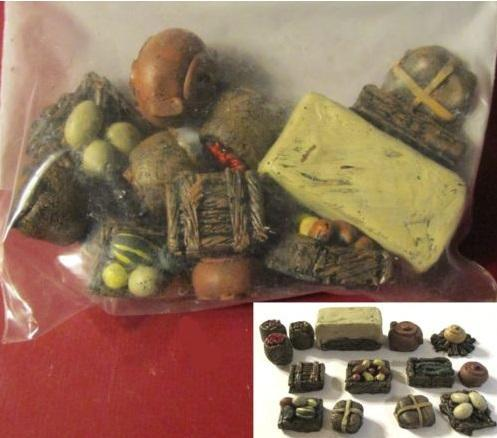 28mm Hand Painted Terrain Accessories - Market Set