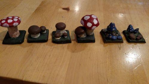 Mushroom Tiles 1''x1'' (6)