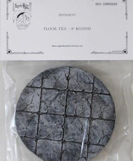 4'' Round Dungeon Floor Tile