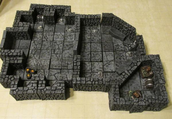 28mm Hand Painted Terrain: Dungeon Crypt w/Secret Treasure Room