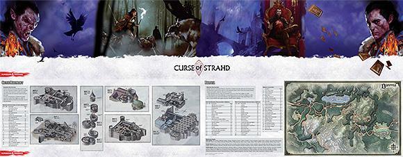 D&D: Curse of Strahd Dungeon Master Screen