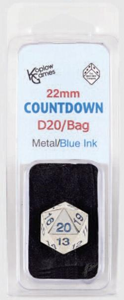 Countdown D20 Die w/Bag