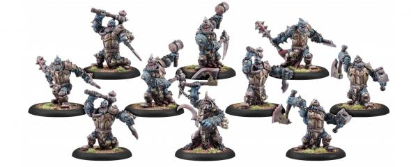 Warmachine: (Cryx) Bloodgorgers, Blighted Trollkin Unit (10) (metal repackage)