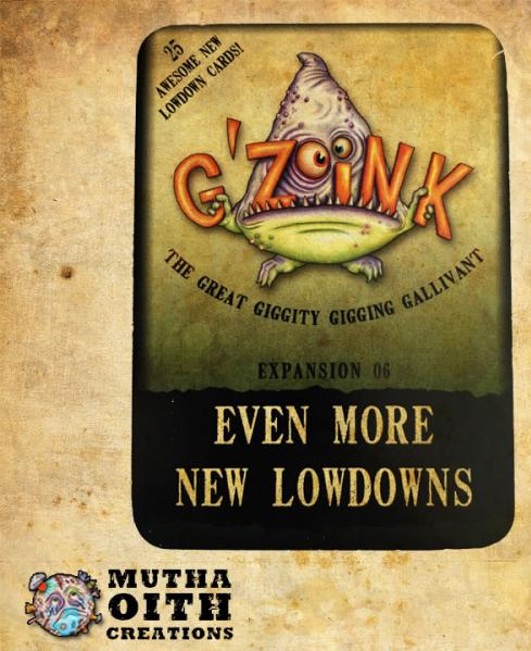 G'Zoink: Even More New Lowdowns (Expansion)