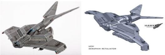 (United Colonies Of Mankind) Seraphim Strike Fighter/Retaliator Variant