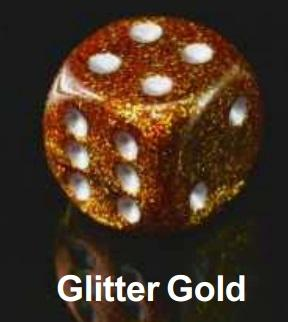 Dice Sets: Glitter Polyhedral Gold/Silver d10 Set (10)