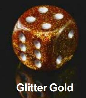 Dice Sets: Glitter Gold/Silver Polyhedral 7-Die Set