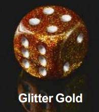 Bulk Dice Sets: Bags Of 20 Glitter Gold/Silver