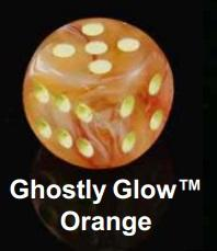 Bulk Dice Sets: Bags Of 20 Ghostly Glow Orange/Yellow