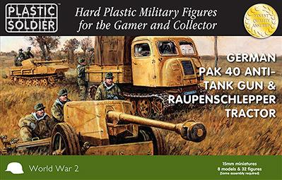 15mm WWII (German): Pak 40 w/Raupenschlepper Tractor
