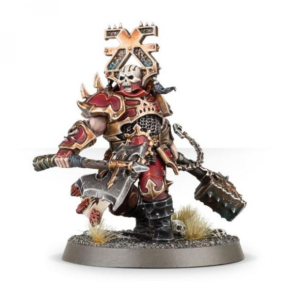 Age of Sigmar: Aspiring Deathbringer with Goreaxe and Skullhammer