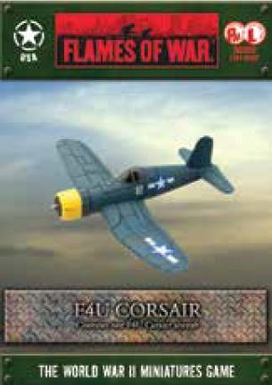 Flames Of War (WWII): (USA) F4U Corsair (x1) [A6 Box]
