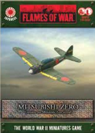 Flames Of War (WWII): (Japanese) Mitsubishi Zero (x1) [A6 Box]