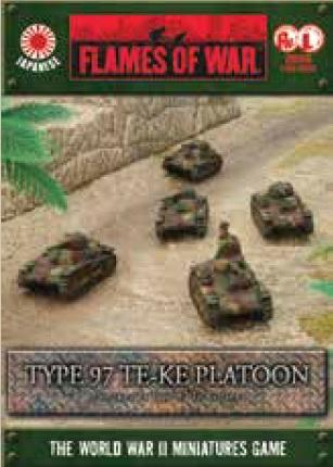 Flames Of War (WWII): (Japanese) Type 97 Te-Ke Platoon (x5) [A6 Box]
