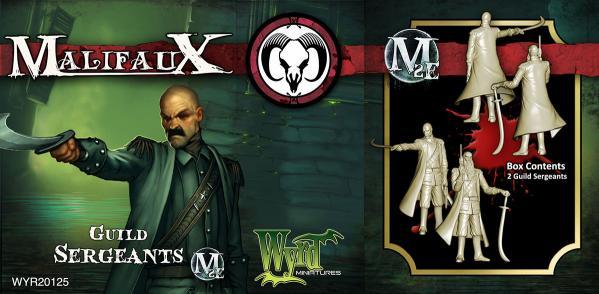 Malifaux: (The Guild) Guild Sergeant (2)