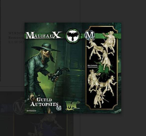 Malifaux: (The Resurrectionists) Guild Autopsies