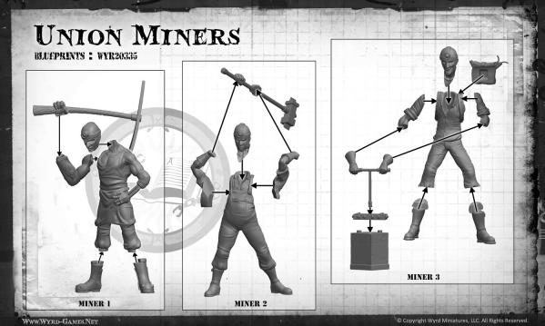 Malifaux: (The Arcanists) Union Miners