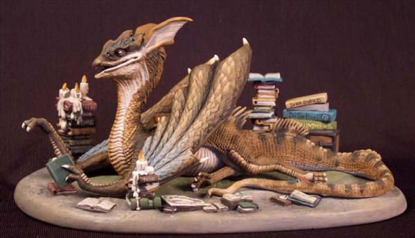 DiTerlizzi Masterworks: Book Wyrm, Dragon Diorama Set
