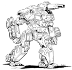 BattleTech Miniatures: HD-2F Hound Mech (TRO 3145/3150)