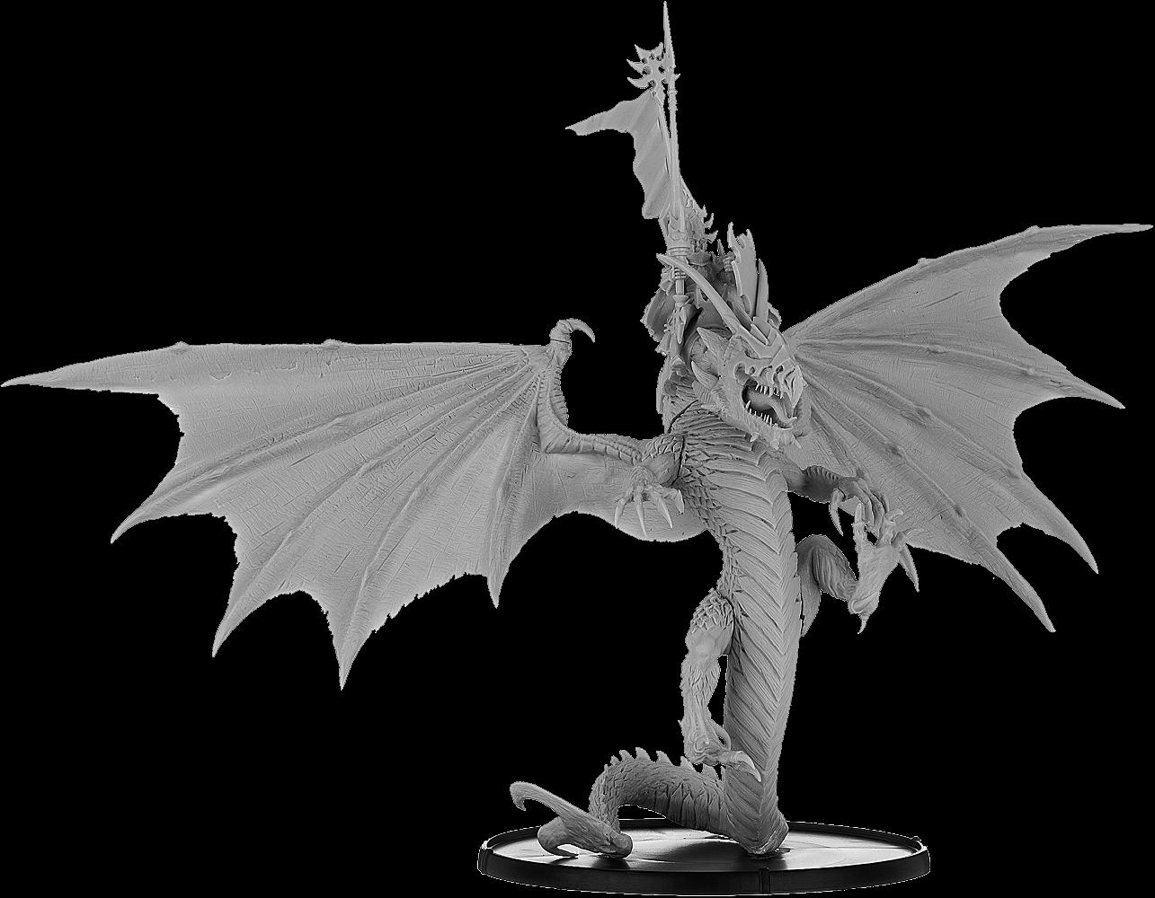 BaneLords: Malek, Black Elf Lord on Dragon