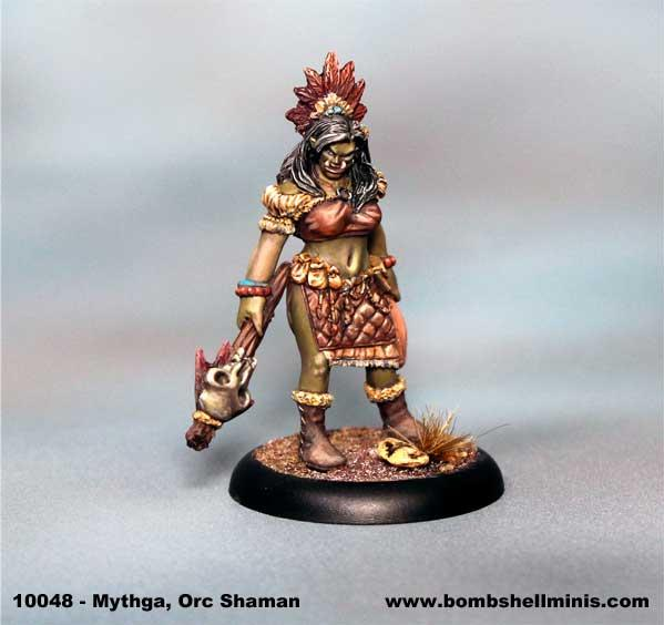 Bombshell Miniatures: Mythga, Orc Shaman