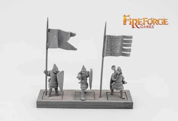 28mm Medieval: (Russian) Infantry Command (3)