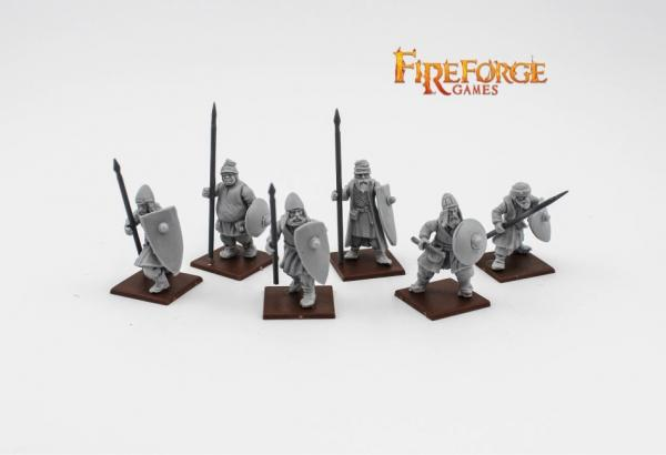 28mm Medieval: (Russian) City Militia Spearmen (6)
