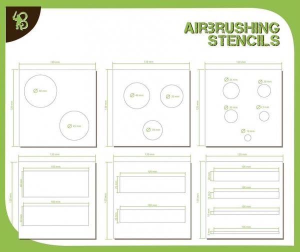 Airbrush Stencils: Circles & Strips 1