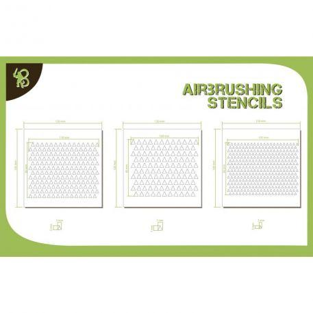Airbrush Stencils: Triangles Pattern 1
