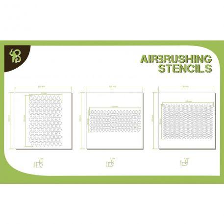 Airbrush Stencils: Diamond Pattern 1