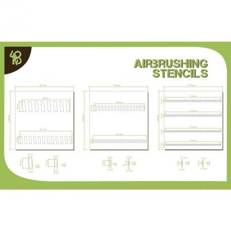 Airbrush Stencils: Sloping Stripes 1
