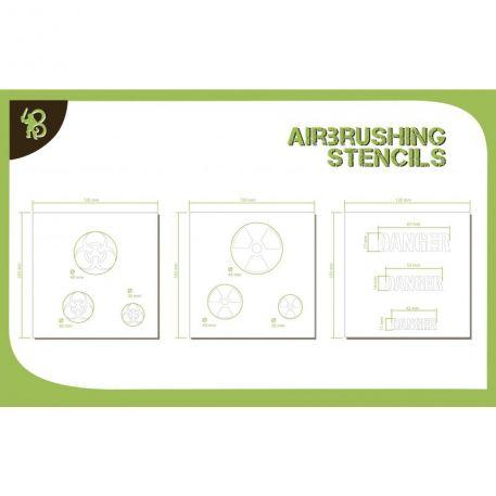Airbrush Stencils: (Symbols) Chemical