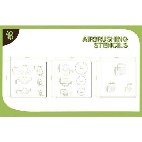 Airbrush Stencils: (Symbols) Templars, Omega & Angel