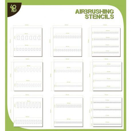 Airbrush Stencils: (Pack) Arrows & Stripes