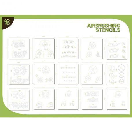 Airbrush Stencils: (Pack) Shapes & Various