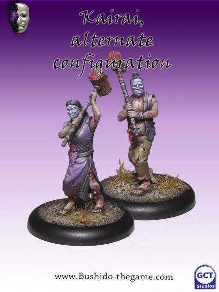 Bushido Miniatures: (Cult Of Yurei) Kairai (2)
