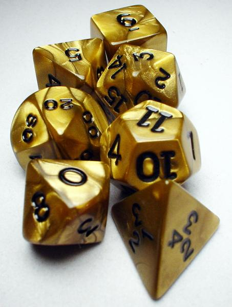 Koplow RPG Dice Sets: Gold/Black Olympic Polyhedral 7-Die Set