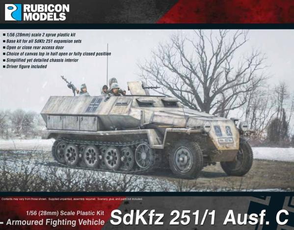 28mm WWII: (German)  SdKfz 251/1 Ausf C