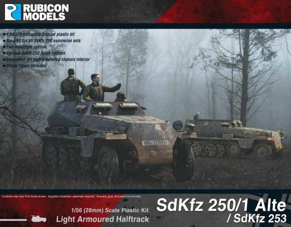 28mm WWII: (German)   SdKfz 250/1 Alte/SdKfz 253