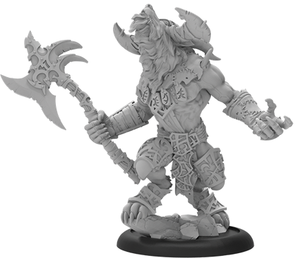 Hordes: (Circle Orboros) Ghetorix, Warpwolf Heavy Warbeast (resin/metal resculpt)
