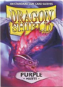 Dragon Shields: Matte Purple Sleeves (100)