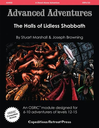 Advanced Adventures #33: The Halls Of Lidless Shabbath (OSRIC/D&D1E)