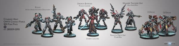 Infinity (#590) Combined Army: Onyx Contact Force (300pts Pack)