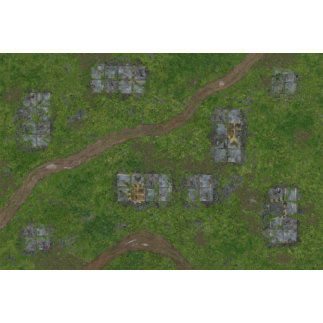 War Game Mat: Outpost (72x48inch)