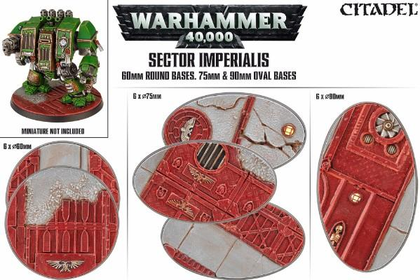 Sector Imperialis: 60/75/90mm Oval Bases