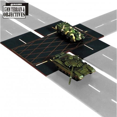 15mm Terrain & Obstacles: Carriage Way T-Junctions