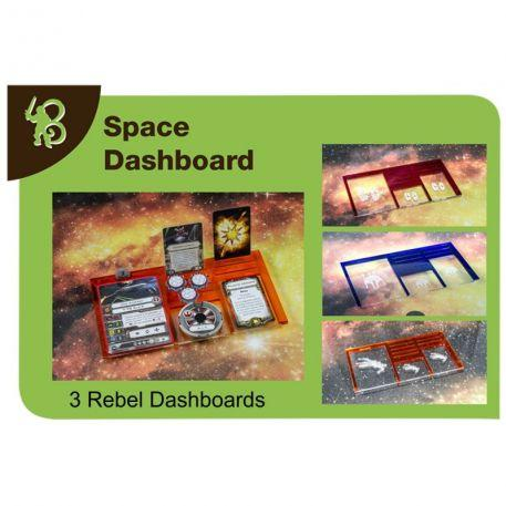 Star Wars X-Wing Accessories: Rebels Space Dashboards PACK