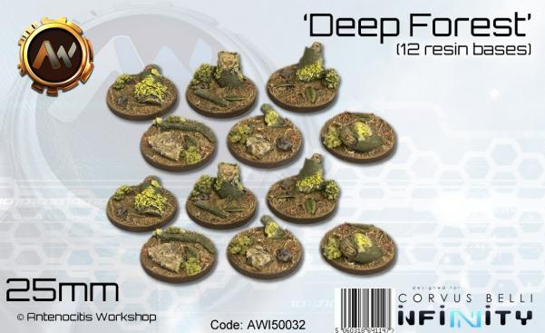Scenic Bases: 25mm Deep Forest