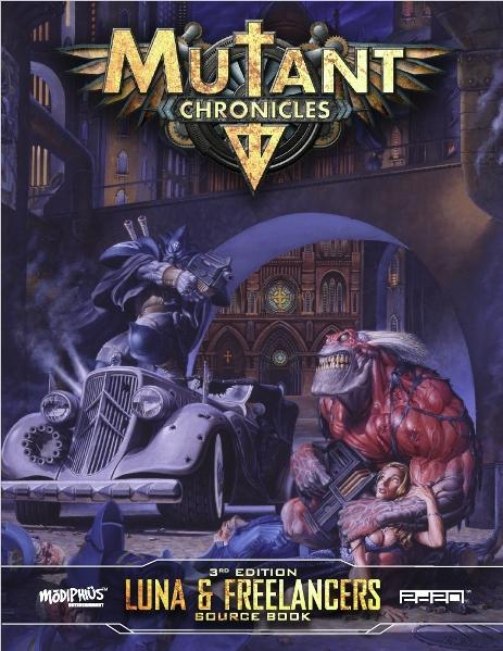 Mutant Chronicles RPG: Luna & Freelancers Guidebook (Full Color)